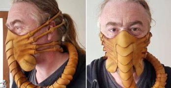 Hupaisa Alien Facehugger -kasvomaski pitää A. virukset poissa, B. Ihmiset kaukana