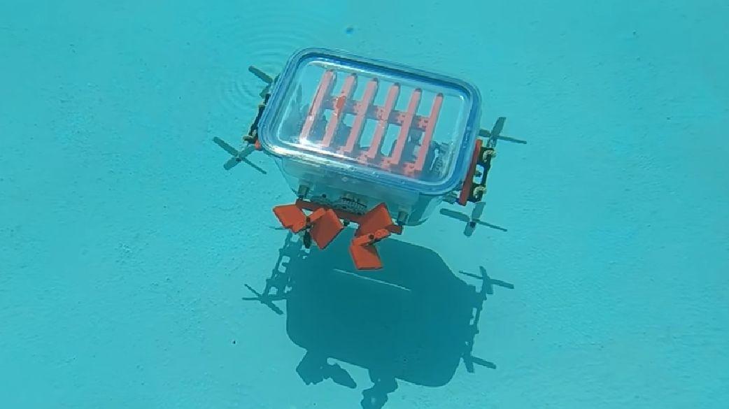 Lego-sukellusveneen testausvaihe