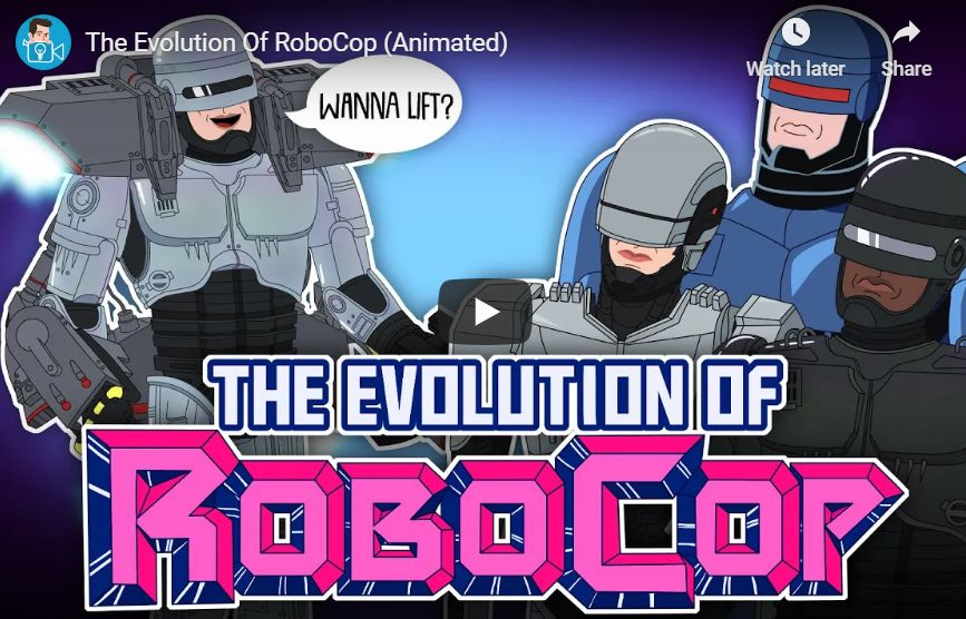 RoboCopin evoluutio animaationa